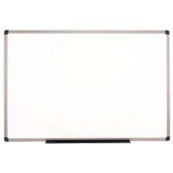 "Realspace™ Porcelain Magnetic Dry-Erase Whiteboard, 48"" x 96"", Aluminum Frame With Titanium Color Finish"