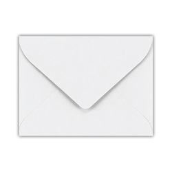 """LUX Mini Envelopes With Moisture Closure, #17, 2 11/16"""" x 3 11/16"""", Bright White, Pack Of 50"""