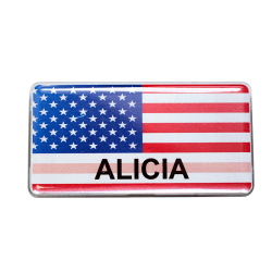 "The Mighty Badge™ USA Flag Collection Name Badge Kit, 1 1/2"" x 3"", 10-Pk"