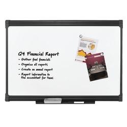 "FORAY™ Porcelain Magnetic Dry-Erase Whiteboard, 36"" x 48"",  Graphite Finish Frame"