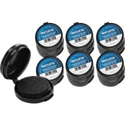 "SICURIX Adhesive Fingerprint Ink Pads - 12 / Carton - 0.5"" Height x 1.5"" Width x 1.5"" Depth - Black Ink - Black"