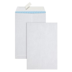 """Office Depot® Brand Clean Seal™ Catalog Envelopes, 6"""" x 9"""", White With Security Tint, Pack Of 100"""
