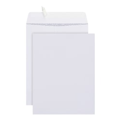 """Office Depot® Brand Clean Seal™ Catalog Envelopes, 9"""" x 12"""", White With Security Tint, Pack Of 100"""