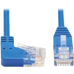 Tripp Lite N204-S03-BL-RA Cat.6 UTP Patch Network Cable - First End: 1 x RJ-45 Male Network - Second End: 1 x RJ-45 Male Network - 1 Gbit/s - Patch Cable - Gold Plated Contact - 28 AWG - Blue