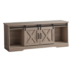 "Monarch Specialties Jamie TV Stand, 23-1/2""H x 59""W x 15-1/2""D, Dark Taupe"
