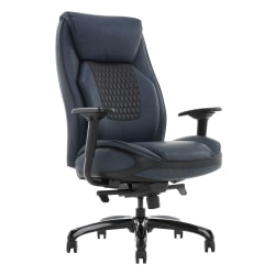 Shaquille O'Neal™ Nereus Ergonomic Bonded Leather High-Back Executive Chair, Navy