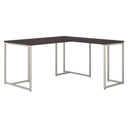 "kathy ireland® Office by Bush Business Furniture Method 60""W L-Shaped Desk With 30""W Return, Storm Gray, Standard Delivery"