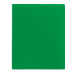 Office Depot® Brand 2-Pocket Poly Folder, Letter Size, Green