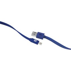 iEssentials Sync/Charge Lightning/USB Data Transfer Cable - 4 ft Lightning/USB Data Transfer Cable - USB - Lightning Proprietary Connector - Blue