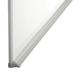 "Quartet® Porcelain Dry-Erase Whiteboard, 36"" x 48"", Aluminum Frame With Silver Finish"