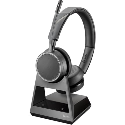 Plantronics Voyager 4220 Office, 2-Way Base, USB-A - Stereo - Wireless - Bluetooth - 300 ft - 32 Ohm - 20 Hz - 20 kHz - Over-the-head - Binaural - Supra-aural - MEMS Technology, Uni-directional, Noise Cancelling Microphone