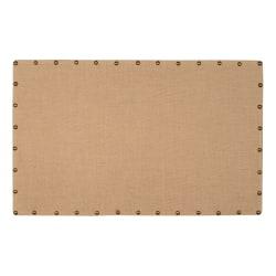 "Linon Home Décor Products Burke Burlap Nailhead Home Office Corkboard, Large 34""x55"", Brown/Antique Bronze"