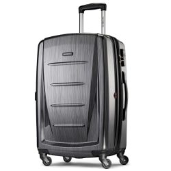 "Samsonite® Winfield 2 Polycarbonate Rolling Spinner, 24""H x 16 1/2""W x 11""D, Charcoal"