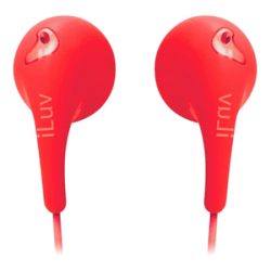 iLuv Bubble Gum 2 iEP205 Earphone - Stereo - Red - Wired - Earbud - Binaural - Open - 3.94 ft Cable