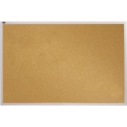 "Quartet® Education Non-Magnetic Cork Bulletin Board, 72"" x 48"", Aluminum Frame With Silver Finish"