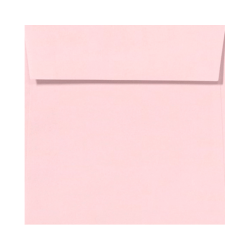 "LUX Square Envelopes With Peel & Press Closure, 6 1/2"" x 6 1/2"", Candy Pink, Pack Of 1,000"