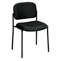 HON® Scatter Stacking Guest Chair, Armless, Fabric, Black