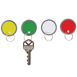 "Office Depot® Brand Round Key Tags, 1.25"" Diameter, Assorted Colors, Pack Of 50"