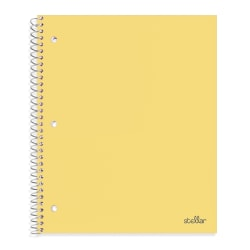 """Office Depot® Brand Stellar Poly Notebook, 8"""" x 10-1/2"""", 1 Subject, Wide Ruled, 200 Pages (100 Sheets), Yellow"""