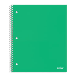 "Office Depot® Brand Stellar Poly Notebook, 8"" x 10-1/2"", Wide Ruled, 200 Pages (100 Sheets), Green"