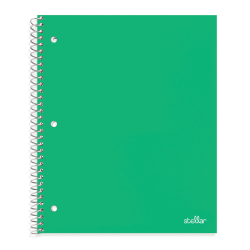 """Office Depot® Brand Stellar Poly Notebook, 8-1/2"""" x 11"""", 1 Subject, College Ruled, 200 Pages (100 Sheets), Green"""