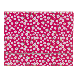 """Office Depot® Brand Fashion File Box, 1 Pocket, 8 1/2"""" x 11"""", Letter, Magenta/White Floral, Pack of 1"""