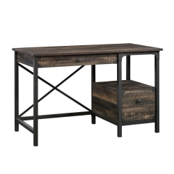 "Sauder® Steel River 48""W Office Desk, Carbon Oak"