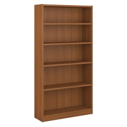 Bush Furniture Universal 5 Shelf Bookcase, Royal Oak, Standard Delivery