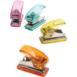 Baumgartens® Mini Hole Punch, Assorted Colors (No Color Choice)