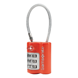 Samsonite® 3-Dial Lock, With Cable, Red
