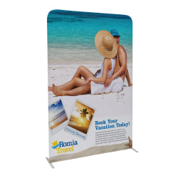 "Custom Full-Color Double-Sided Stretch Fabric Display Kit, 72"" x 5'"