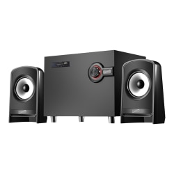 IQ Sound Bluetooth Speaker System - Black - 55 Hz to 18 kHz - USB