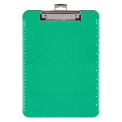 """Office Depot® Brand Plastic Clipboards, 8 1/2"""" x 11"""", Lime Green"""