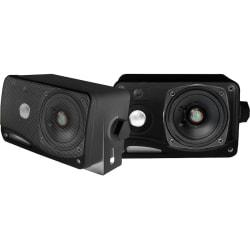 Pyle PLMR24B 100W RMS 3-Way Speaker, Black/Blue