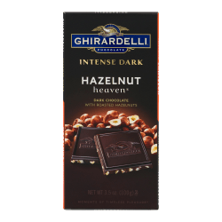 Ghirardelli® Intense Dark, Hazelnut Heaven Bars, 3.5 Oz, Pack Of 12 Bags