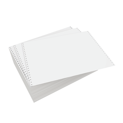 """Domtar Continuous Form Paper, Unperforated, 14 7/8"""" x 11"""", 20 Lb, Blank White, Carton Of 2,300 Forms"""