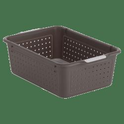 "Made Smart Basket, Small, 12 1/8"" x 8 1/8"" x 4"", Black/Gray"