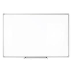 "Realspace™ Porcelain Magnetic Dry-Erase Board, 24"" x 36"", Silver Aluminum Frame"