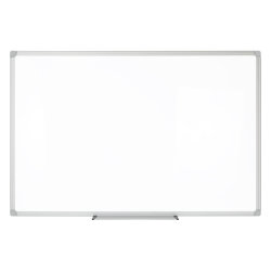 """Realspace™ Porcelain Magnetic Dry-Erase Whiteboard, 24"""" x 36"""", Aluminum Frame With Silver Finish"""