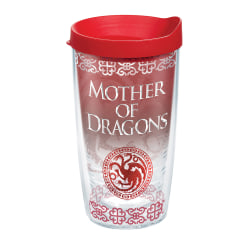 Tervis Game Of Thrones Tumbler With Lid, Mother Of Dragons, 16 Oz, Clear