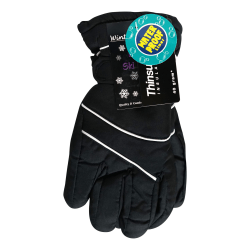 Winter Warm Up Fleece Thinsulate Gloves, Men's Large, Assorted Colors, Pack Of 2 Gloves