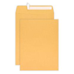 "Office Depot® Brand 10"" x 13"" Manila Catalog Envelopes, Clean Seal, Brown Kraft, Box Of 100"