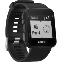 Garmin Approach S10 Golf Watch - Wrist - Odometer - Calendar, Scorecard, Timer, Clock Display - Distance Traveled - 64 MB - 128 x 128 - GPS - 2352 Hour - Black - Silicone Band - Golf - Water Resistant