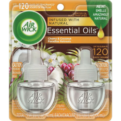 Air Wick® Life Scents™ Scented Oil Warmer Refill, 0.67 Oz, Paradise Retreat, Pack Of 2