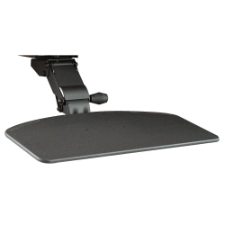 Bush Business Furniture Articulating Keyboard Tray, Galaxy Black, Standard Delivery
