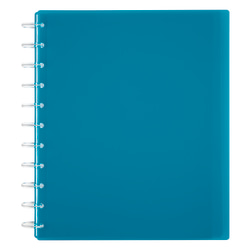TUL® Discbound Student Notebook, Letter Size, 3-Subject, Narrow Ruled, 150 Pages (75 Sheets), Poly Cover, Teal
