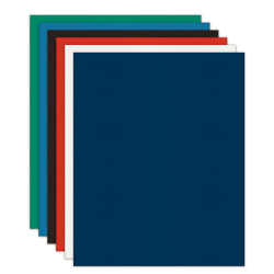 Office Depot® Brand 2-Pocket Folders without Fasteners, Assorted, Pack of 24