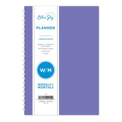 "Blue Sky™ Weekly/Monthly Planner, 5"" x 8"", Reflections, January to December 2021, 117912"