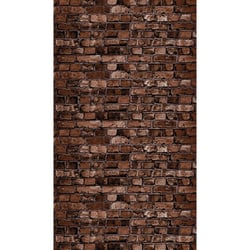 """Pacon Ella Bella Photography Backdrop Paper, 48"""" x 12', Aged Brown Brick, Pack Of 4 Rolls"""