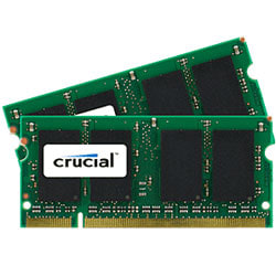 Crucial™ DDR2 Memory Upgrade Kit For Notebook Computers, 2GB (1GB x 2) SODIMM, PC2-6400 (800 MHz)